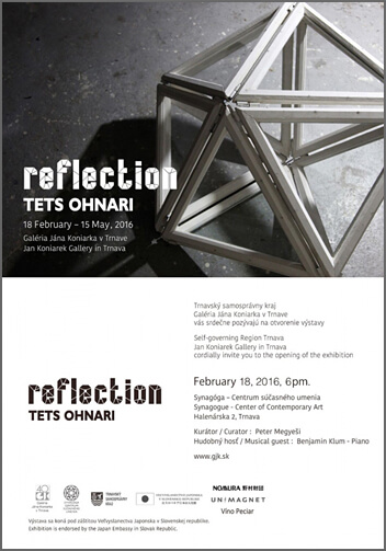 "Solo exhibition""reflection"