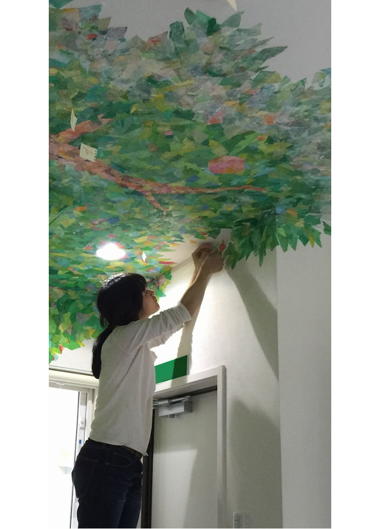 Work on the mural